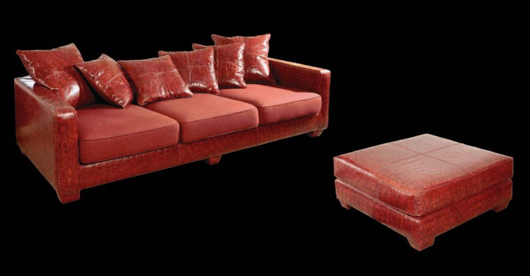 Three seater sofa with Ottoman for living room, Wama