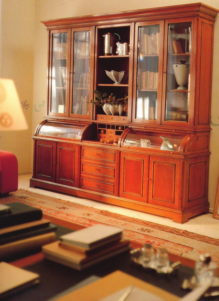 Bookcase cherry wood L1145, Annibale Colombo